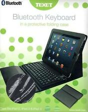 TEXET iPAD BLUETOOTH WIRELESS KEYBOARD & PROTECTIVE FOLDING CASE