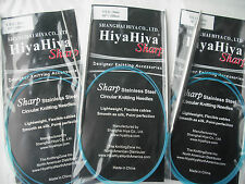 "HiyaHiya 8.0mm x 100cm (40"") Sharp Steel Circular Knitting Needles"