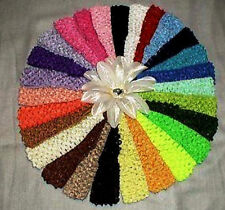 """1.5""""' INCH CROCHET HEADBAND ASSORTED COLORS, SOLD IN SETS OF 18 PCS *"""