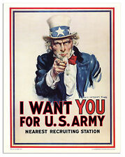 Uncle Sam ''I Want You'' Poster James Montgomery Flagg