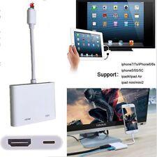 jeûne pour NUMÉRIQUE AV TV CÂBLE HDMI ADAPTATEUR IPAD AIR iPhone 6 6S 7 7plus G