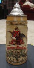 "Anheuser Busch Budweiser Lidded Beer Stein Limited Edition ""D"" Series Numbered"