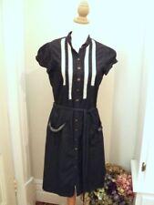 * REVIEW  denim dress lace insert tie waist