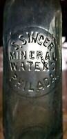 Nice S. Singer Mineral Waters Philadelphia Pa Bottle