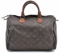 Authentic Louis Vuitton Monogram Speedy 30 Hand Bag Old Model LV B4555