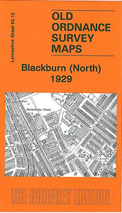 Old Ordnance Survey Map Blackburn North 1929 - Lancashire Sheet 62.12