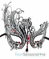 Black Swan Metal Laser Cut Venetian Halloween Ball Masquerade Party Mask