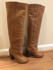 Nine West knee high leather boots size 5