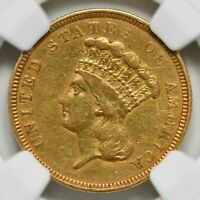 1854 O $3 Three Dollar Gold Piece NGC VF-Details Cleaned
