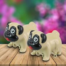 Set of 2 Wind up Racing Pugs Toy