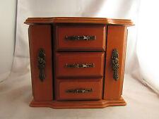 boite bijoux en bois ciré en forme de commode epoque 1970 baguier