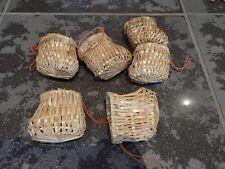 Stroh-Schuhe,5x Set,Strohstern,mit Naturfaden,Stern,Weihnachtsstern,Deko,Stroh