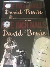 Nine Inch Nails & David Bowie BACK IN ANGER VOL 1 & 2 CLEAR VINYL DOUBLE LPs/3CD
