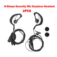 2 Pcs Headset/Earpiece Ear Clip For Radio Security 2 Pin Walkie Talkie AU