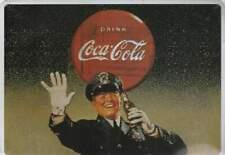 Metalen Kaart/Tin-Card/Blechkarte - Coca Cola (019) met stempel