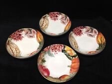 """WILLIAMS SONOMA Harvest Wreath Set of (4) Dipping Bowls 5.5"""""""