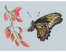 RTO Counted Cross Stitch Kit - Floating - A Butterfly about to alight on a flowe
