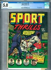 Sports Thrills #15 CGC 5.0 (OW) L. B. Cole cover