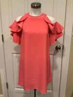 "Kate Spade New York Petunia Pink Cold Shoulder ""Key Pieces"" Dress,Size XXS, NWT!"