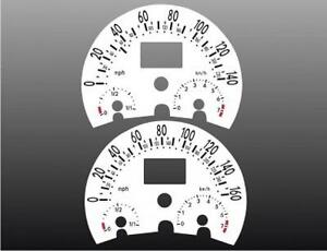 1998-2004 VW Beetle Dash Cluster White Face Gauges 98-04