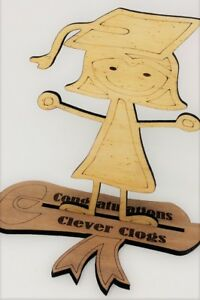 Congratulations Clever Clogs, Graduation Gift, Passing your Exams Present, Keep