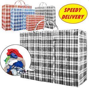 Jumbo LAUNDRY BAGS zipped reusable large strong shopping / storage bag UK seller