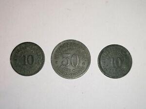 10, 50 Pfennige 1918 Schmölln Kleingeldersatz Zink #2124