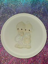 Precious Moments Rejoicing With You 1981 Bisque Porcelain Collector's Plate wBox