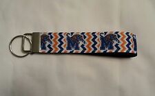 Handcrafted NCAA University of Memphis Tigers Key Chain Wristlet NEW Free Ship