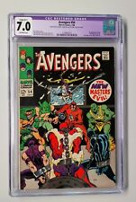 Avengers #54 - CGC 7.0 - Small Color Touch - 1st New Masters of Evil Appearance