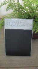 """Galvanized Tin Free Standing Flower Blackboard Chalkboard Memo Board- 6"""" x 8"""""""
