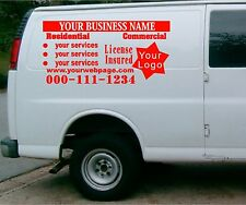 van car vehicle custom vinyl decal lettering  stickers business signs 3 decals