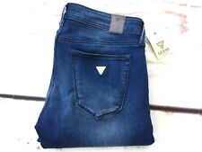🥀 Guess Skinny Ultra Low Rise Women's Jeans Extra Stretch Blue Fabric Size 27💕