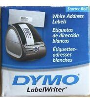 Genuine DYMO Labels  White  Address Labels 1-1/8 X 3-1/2 White Starter Roll