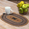 New Primitive Folk Art BLACK SHEEP Jute Braided Table Doily Candle Place Mat