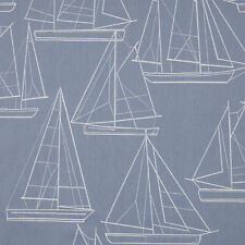 MASSIVE REMNANT John Lewis Sailing Blueprint Furnishing Fabric - Appx 137cmx0.7M
