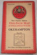"Collectable Vintage ""Okehampton"" Sheet 175 Ordnance Survey Map c.1956"