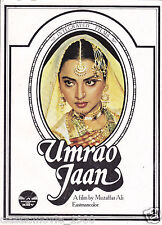 Umrao Jaan (1981) Bollywood Press Book Rekha Farouque Shaikh Naseeruddin Shah