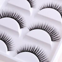 5 Pairs Natural Sparse Cross Eye Lashes Extension Long False Eyelashes Makeup