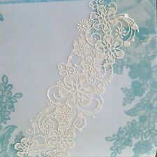 Edible Lace, Cake Lace, Sugar Lace 3 Pc Ready To Use - Whispering Willow Topper