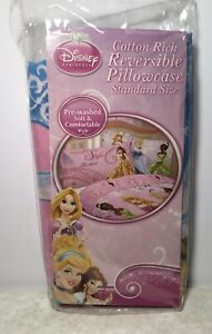 """Disney Princess Arrive In Style Pink Pillowcase Double Sided 20"""" X 26"""""""
