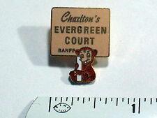 Charlton's Evergreen Court Banff Skiing Ski Pin , (Ski#374) (**)