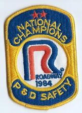 Roadway Express 1984 National champions P&D safety driver patch 4-1/4/X2-3/4