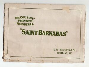 Early 1900's Saint Barnabas, Dr. Cousins Private Hospital, Portland, Maine