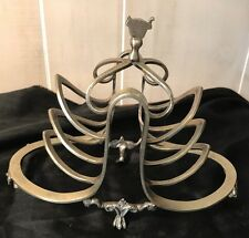 Silver plated 1800s Toast Holder Or Napkin Holder Jones & Wallet British Footed