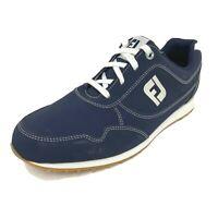FootJoy Sport Retro Women's S 10M Spikeless Golf Shoes 92387 Navy Blue 75938