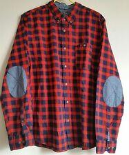 Debenhams Men's Red Herring cotton shirt checks long sleeve Large