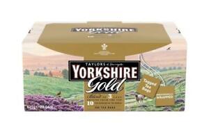 Yorkshire Gold Tea Sachets - Individual Foiled Enveloped Tagged - 200 Tea Bag