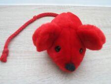 SIGIKID Maus rot  ca 15 cm + Schwanz  Schmusetier Kuscheltier Stofftier