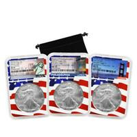 2021 W P S (Set of 3) NGC MS 70 Early Releases American Silver Eagles